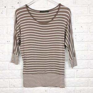 MINT Velvet Striped dolman sleeve shirt